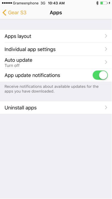 Gear S iOS