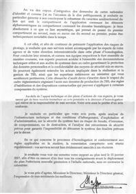 lettre mission fichier TES bernard cazeneuve
