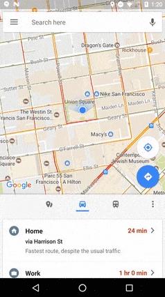 Google Maps Android février 2017