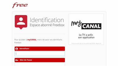 myCanal Free Connexion