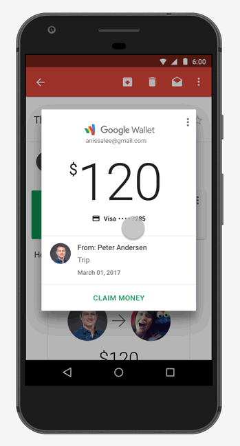Google Wallet Android Gmail