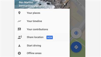 Google Maps partage