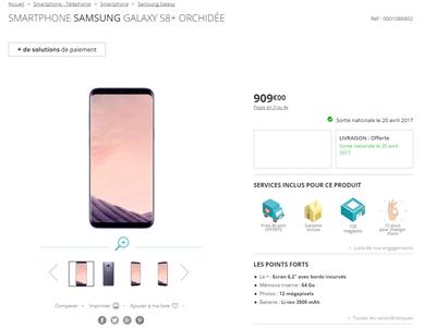 Galaxy S8 S8+ Boulanger