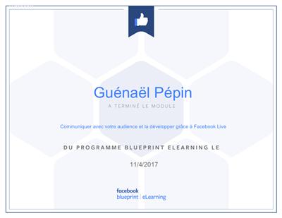 Facebook Certificat