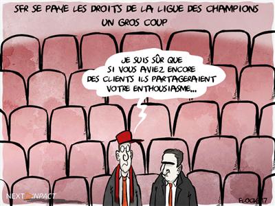 SFR renoue avec la croissance et s'adjuge les droits de la Ligue des Champions pour 3 ans