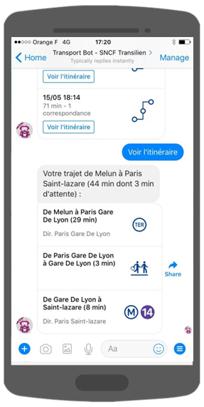 ChatBot SNCF