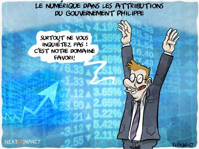 Le numérique dans les attributions du gouvernement Philippe