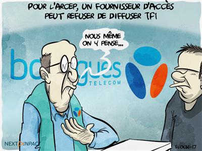 Pour l'Arcep, un fournisseur d'accès peut refuser de diffuser TF1