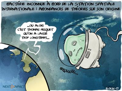 La folle histoire d'une bactérie inconnue à bord de la Station Spatiale Internationale