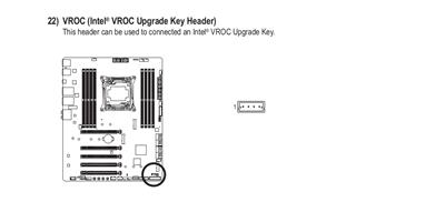 Intel VROC Key Gigabyte