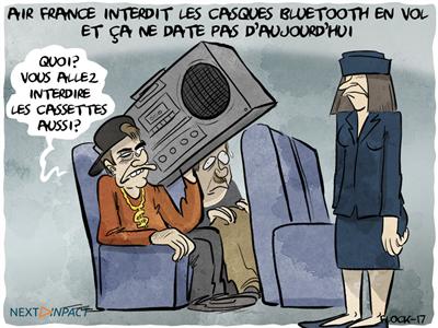 Oui, Air France interdit l'utilisation d'un casque Bluetooth en vol... et ça n'a rien de nouveau