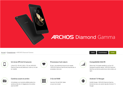 Archos Diamond Alpha Gamma