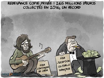 Redevance Copie privée : 265 millions d'euros collectés en 2016, un record
