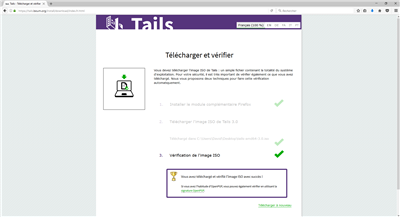 Téléchargement Tails 3.0 Firefox