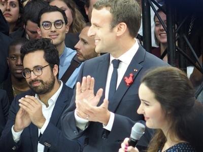 Station F Mounir Mahjoubi Macron Roxanne Vazra