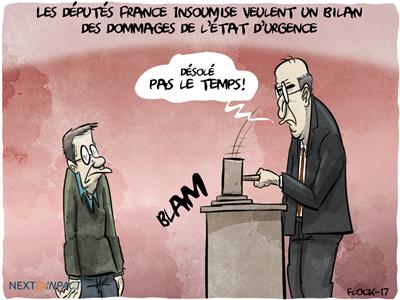 Les députés France Insoumise veulent un bilan des dommages de l'état d'urgence