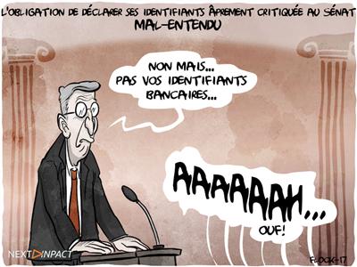 L'obligation de déclarer ses identifiants âprement critiquée au Sénat