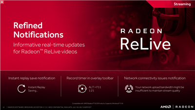 AMD Radeon Crimson Relive 17.7.2 Streaming