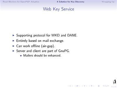 GPG Web Key Service
