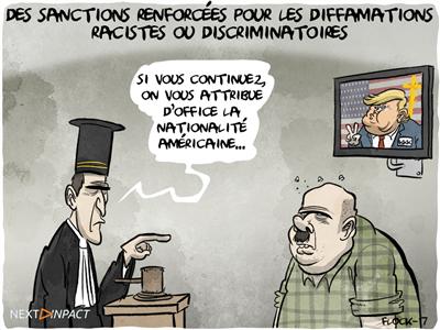 Des sanctions renforcées pour les diffamations racistes ou discriminatoires non publiques