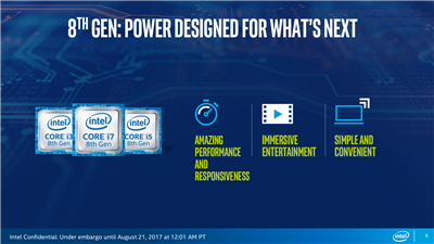 Intel Core 8th Gen Kaby Lake Refresh Slides