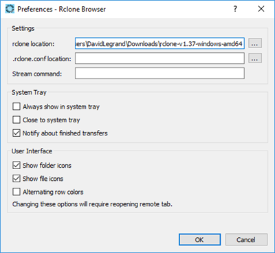 Rclone Browser