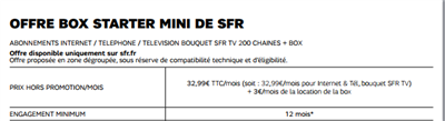 SFR Starter Mini xDSL