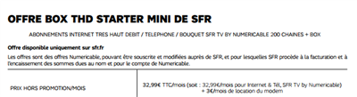 SFR Starter Mini THD