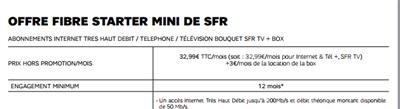 SFR Starter Mini Fibre