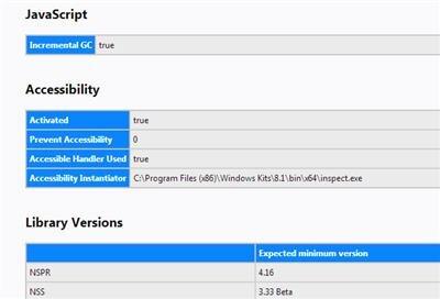 Firefox 57 Vie privée Accessibilité