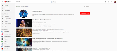 YouTube nouvelle interface août 2017