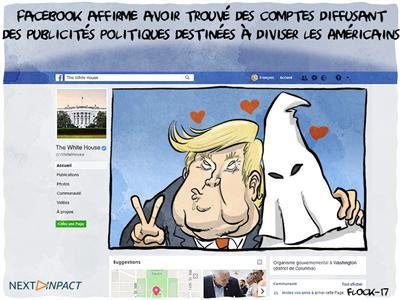 Facebook identifie des publicités politiques frauduleuses, pointant (encore) la Russie