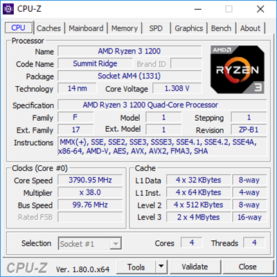 Ryzen 3 1200 Overclocking