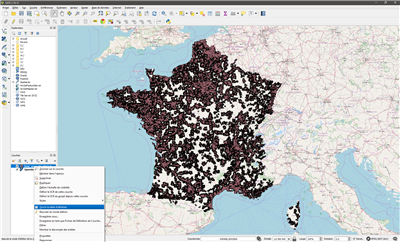 QGis Ouvrir table attributs