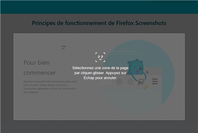 Firefox Screenshots - Sélection