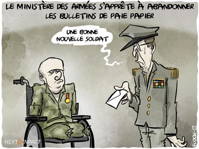 Le ministère des Armées s'apprête à abandonner les bulletins de paie papier