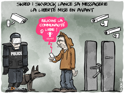 Skred : Skyrock lance sa messagerie « libre et sécurisée »... mais un peu trop fermée
