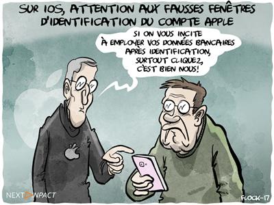 Sur iOS, attention aux fausses fenêtres d'identification du compte Apple