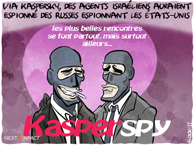Via Kaspersky, des agents israéliens auraient espionné des Russes espionnant les États-Unis