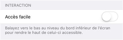 iPhone X Accès facile