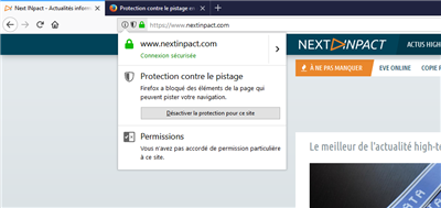 Firefox 57 Ajout d'exception