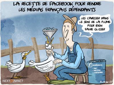La stratégie de Facebook pour rendre les médias français dépendants