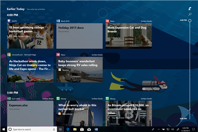 windows 10 rs4 timeline
