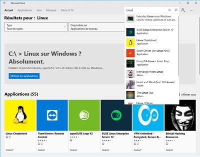 Microsoft Store Linux Ubuntu openSUSE Windows 10