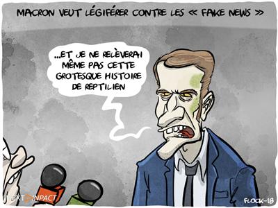 Emmanuel Macron veut légiférer contre les « fake news »