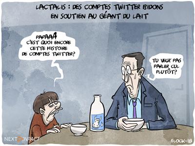 Lactalis : de beaux comptes Twitter pour le géant du lait