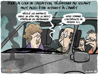 Pour la Cour de cassation, téléphoner au volant peut aussi être interdit à l'arrêt