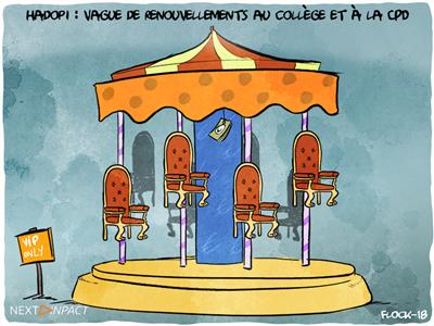 Hadopi : vague de renouvellements au collège et à la CPD