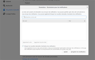 Firefox 59 Permissions