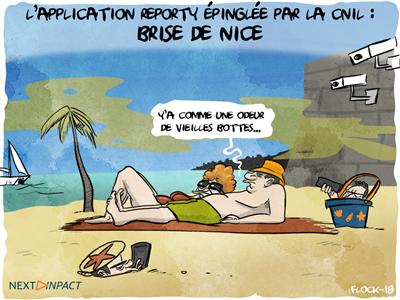 Épinglée par la CNIL, Nice suspend son application Reporty